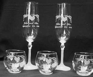 Toasting Glasses and votives